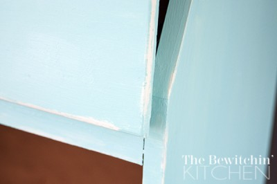 Wet distressing is such an easy no fuss way of adding charm to your furntiure makeover