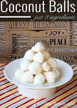 3 Ingredient Coconut Balls