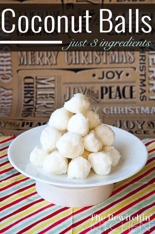 3 Ingredient Coconut Balls