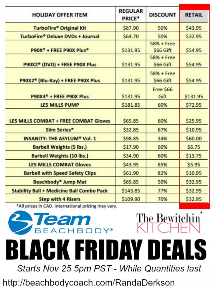 Team Beachbody Black Friday Deals
