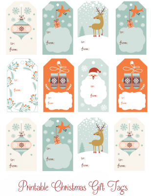 Christmas Gift Tag Free Download