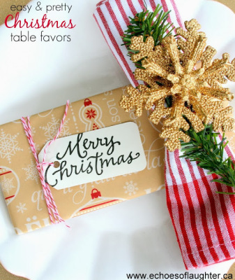 Adorable Christmas Table Favors