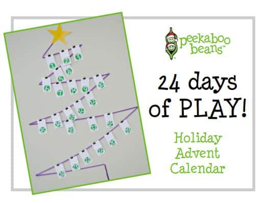 FREE Printable Advent Calendar Peekaboo Beans for the Holidays
