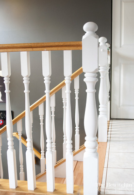 Fast, easy and effective stair spindle makeover