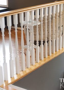 Quick Stair Spindle Makeover with Country Chic Paint