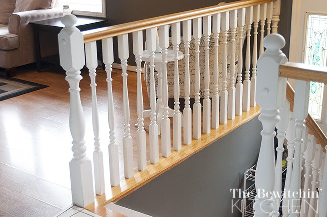 Fast easy cheap stair spindle makeover for Cheap stair makeover