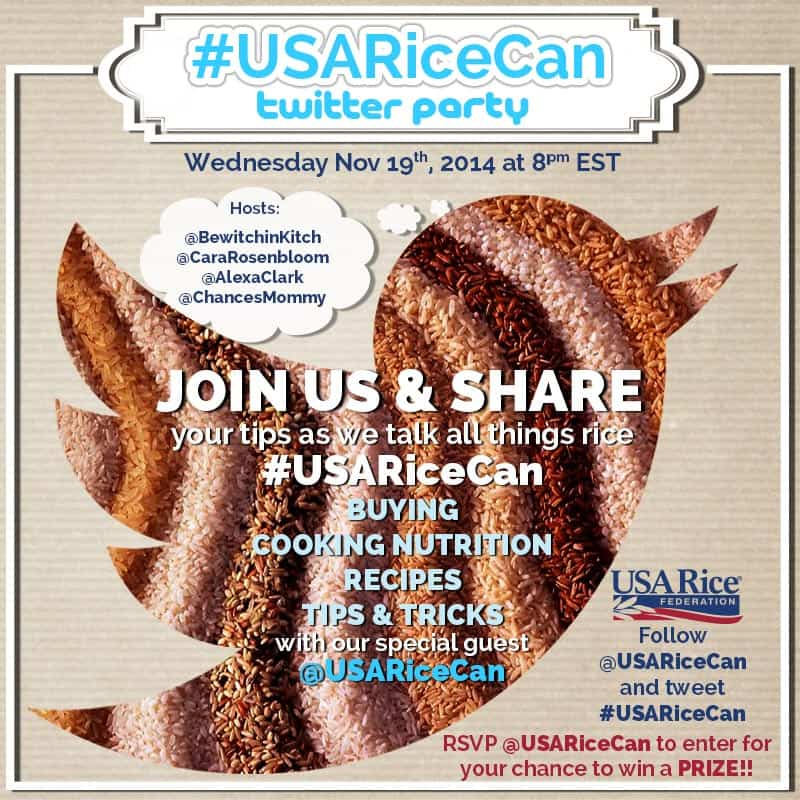 USA Rice Federation Twitter Party #USARiceCan