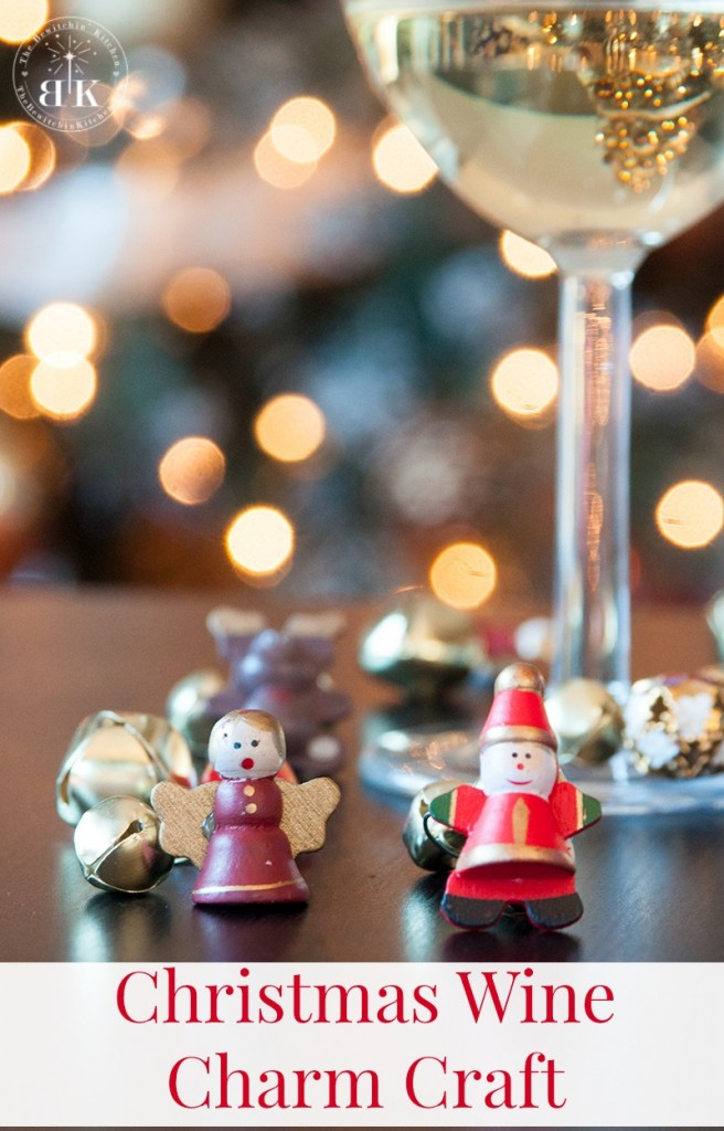 Christmas Wine Charm Craft. Make your own wine charms easily with dollar store products