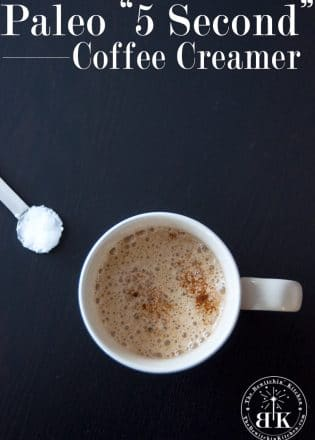 Homemade Paleo Coffee Creamer - It takes only a few seconds to whip up and has changed my life