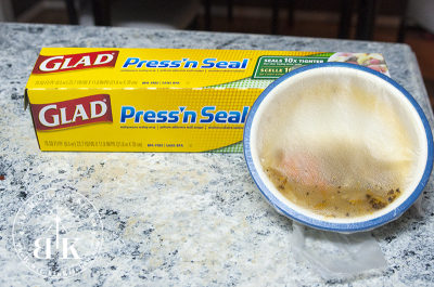 How to save chicken soup in the fridge using GLAD Press and Seal