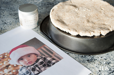 Image transfer salt dough craft. Really easy to do and it makes a great Christmas Gift