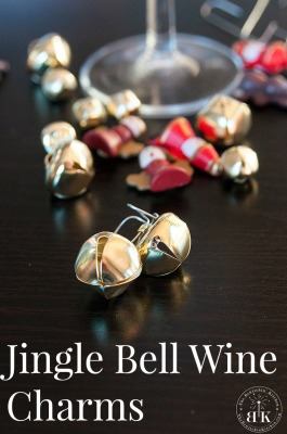 Jingle Bell Wine Charms. Great for Christmas Parties!
