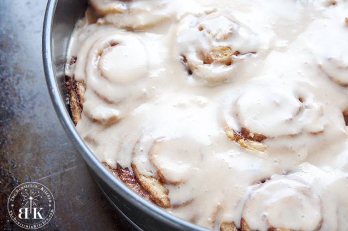 Ooey gooey Cinnamon rolls with a maple butter glaze