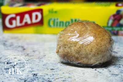 Using Glad Cling Wrap seals freshness into homemade buns
