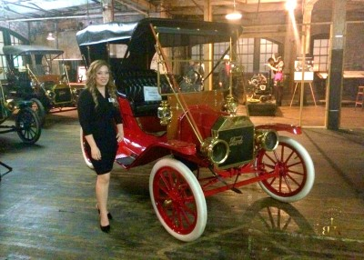 A historic Model T in the Ford Piquette Plant's Secret Room. This Model T is what you would see in print and the movies