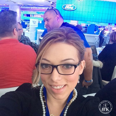 Blogger and Digital Influencer, Randa Derkson from The Bewitchin' Kitchen, at the North American International Auto Show.(FordNAIAS)