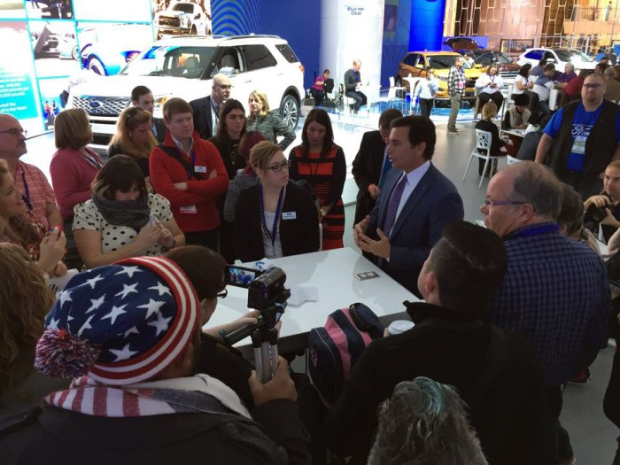 Digital Influencers at the North American International Auto Shower and the CEO of Ford, Mark Fields | The Bewitchin' Kitchen Blog