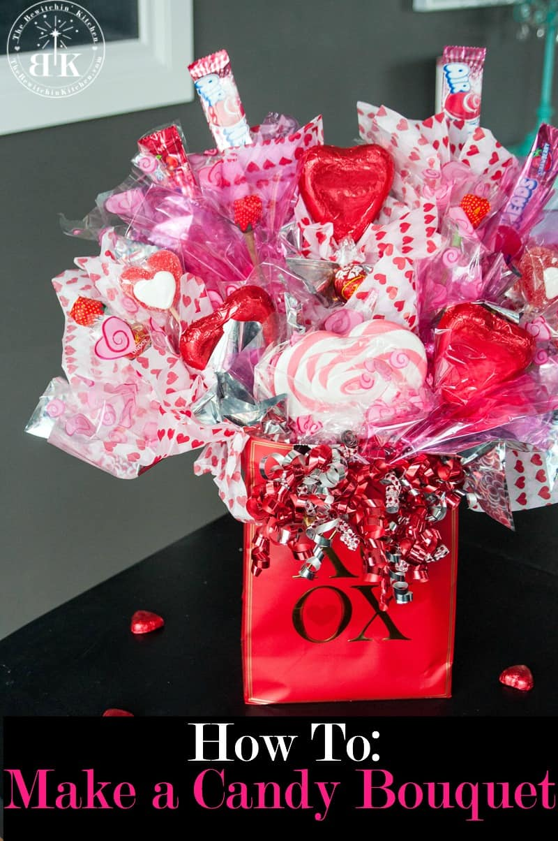 to create a candy bouquet arrangement. This DIY gift is great for ...
