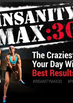 Insanity Max 30 review. My first week on this workout program is in the post along with how many calories I burned and where I maxed out. What a great way to improve your fitness