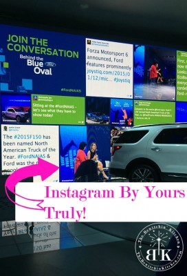 Social media on the big screen. Have Instagram and social media featured by Ford at the North American International Auto Show (NAIAS)