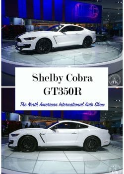 The beautiful Shelby Cobra GT350R at the North American International Auto Show (NAIAS). What a beautiful high performance car