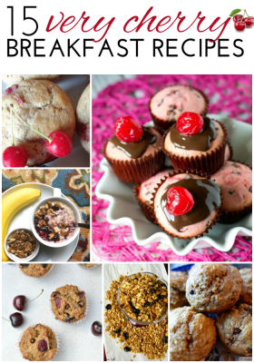 15 Very Cherry Breakfast Recipes - delicious round up of cherry recipes to start your day off right. Everything from decandent to healthy breakfast ideas. Gluten free, paleo and vegan recipes included. | The Bewitchin' Kitchen