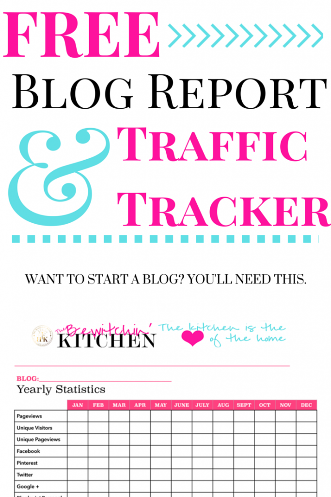 Free blog report and traffic tracker download. If you're a blogger (or want to start a blog) you're going to need this.