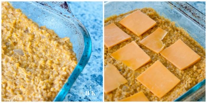 Healthy version of mac and cheese - vegetarian quinoa bake