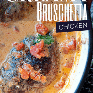 Creamy Bruschetta Chicken - super yummy! Add this to your gluten free recipes. One pot recipes are not just easy to cook but to clean as well. | The Bewitchin' Kitchen