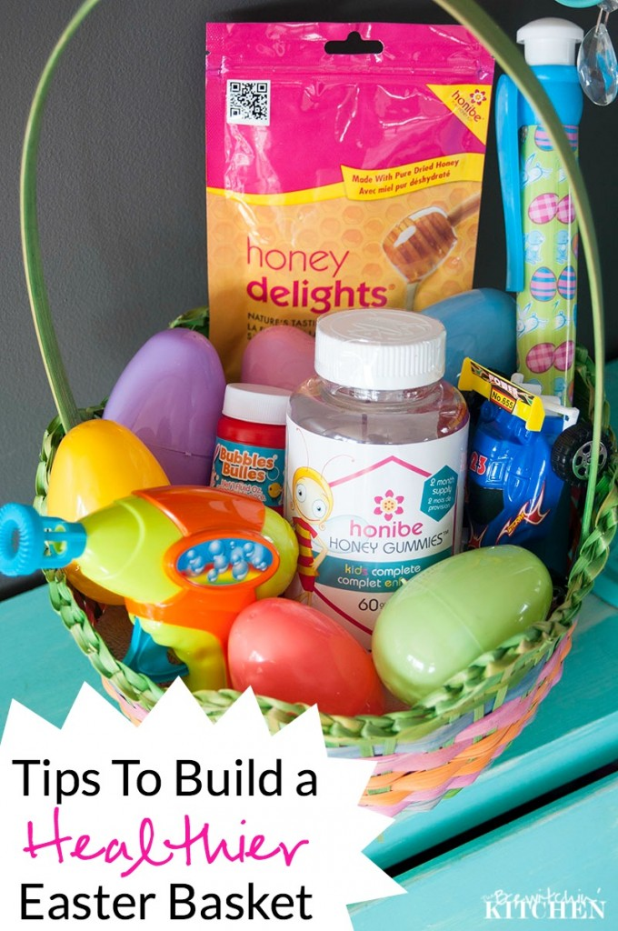 Tips on building a healthier easter basket (and bonus it doesn't break the bank) from The Bewitchin' Kitchen