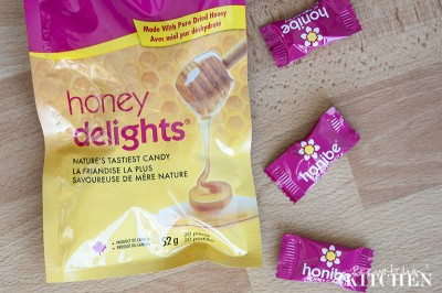 Honibe Honey Delights are natural candy sweetened with honey. Delicious and natural.