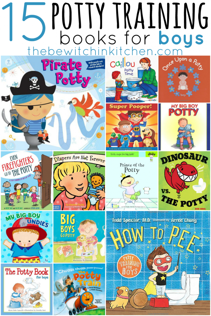15 books that make potty training boys easier from The Bewitchin Kitchen.