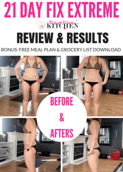 21 Day Fix Extreme results and review + free meal plan and grocery downloads. It's really helped me get closer to my health and fitness goals.