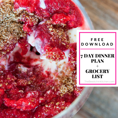 Free 7 day dinner plan download + bonus grocery list printable. Don't have time to meal plan? Download this!