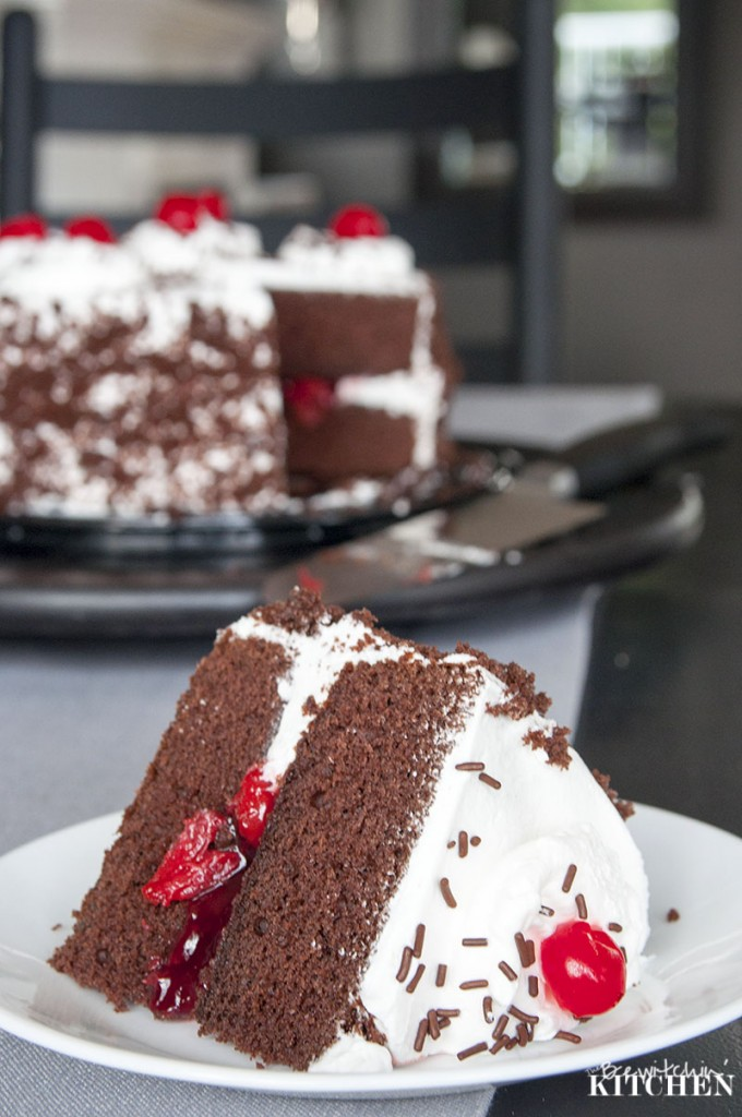 Black Forest Cake is the perfect dessert to end a beautiful turkey dinner. | The Bewitchin' Kitchen