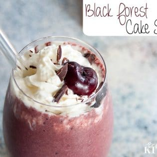 Black Forest Cake Shake recipe - delicious AND healthy! | The Bewitchin' Kitchen