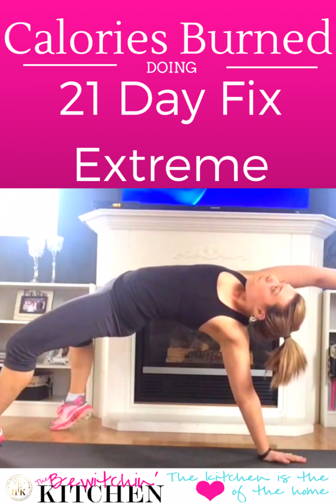 Calories Burned Doing 21 Day Fix Extreme