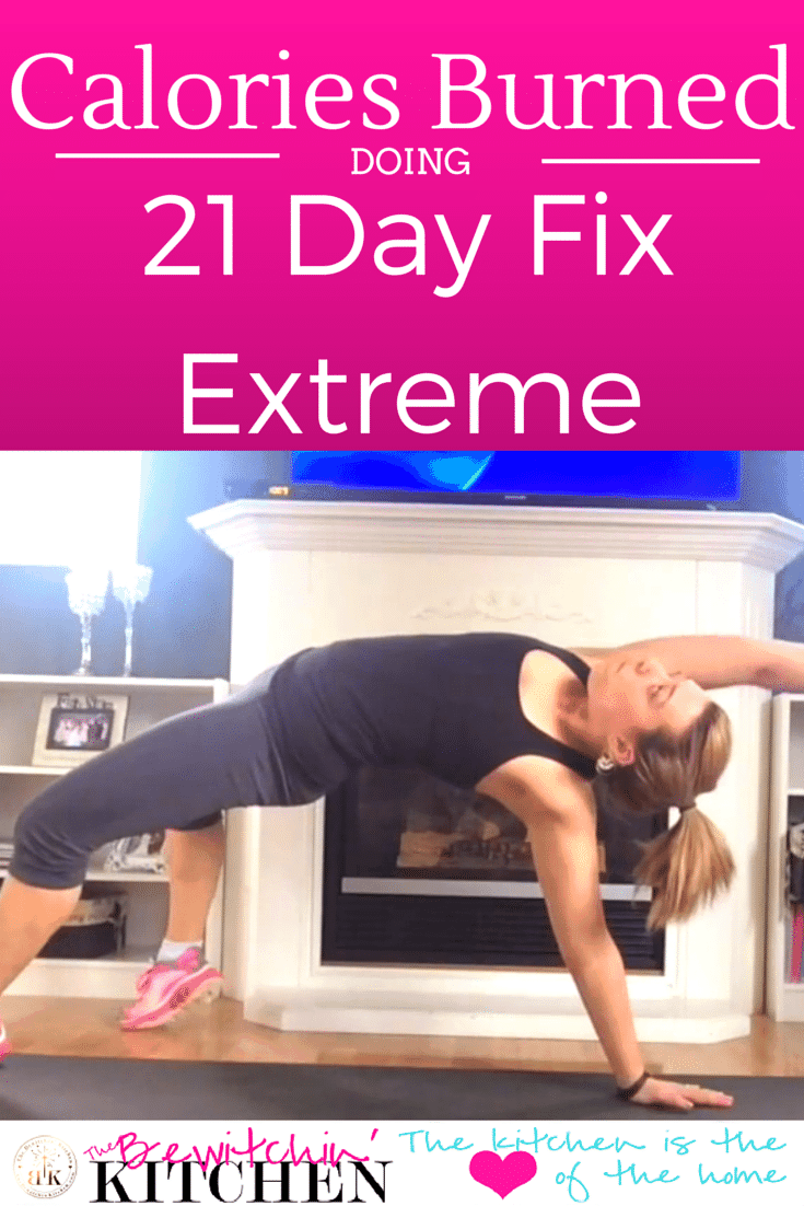 Curious on how many calories you can burn doing the 21 Day Fix Extreme? You're going to want to read this guide to Autumn Calabrese's newest and hottest program | The Bewitchin' Kitchen