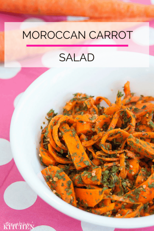 Moroccan Carrot Salad. This healthy side dish recipe is perfect for bringing to a BBQ. | The Bewitchin Kitchen