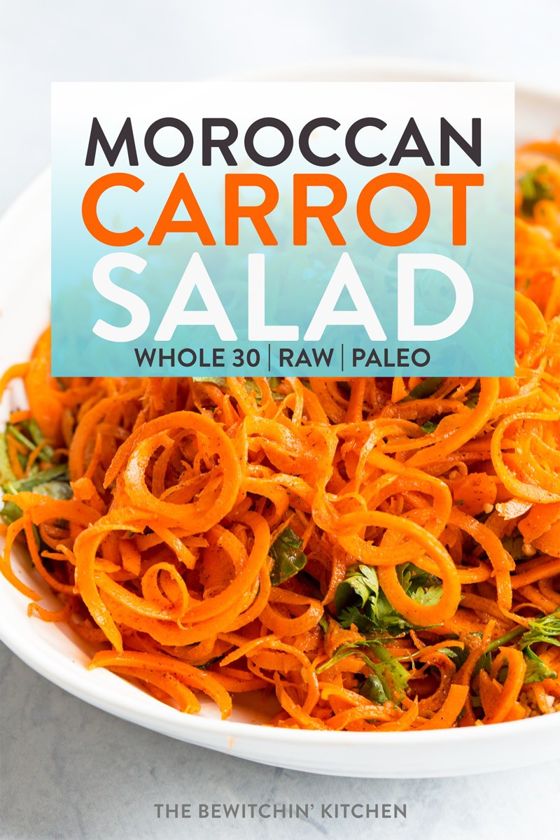 Healthy Moroccan Carrot Salad | The Bewitchin' Kitchen