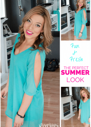 A fun and fresh perfect summer makeup look. Quick, easy and long lasting - beauty that's perfect for busy moms and women on the go. | The Bewitchin' Kitchen