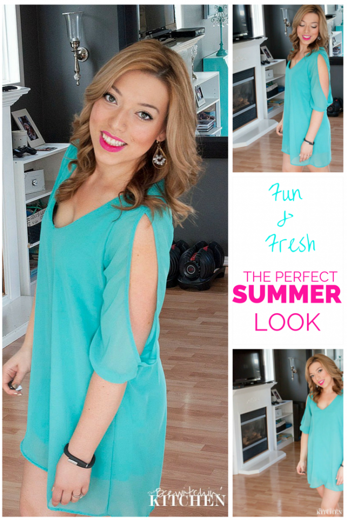 A fun and fresh summer makeup look. Quick, easy and long lasting - beauty that's perfect for busy moms and women on the go. | The Bewitchin' Kitchen