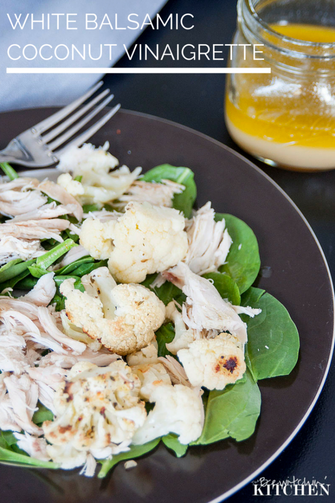White Balsamic Coconut Vinaigrette is a perfect summer salad recipe. For more 21 Day Fix Extreme recipes visit TheBewitchinKitchen.com