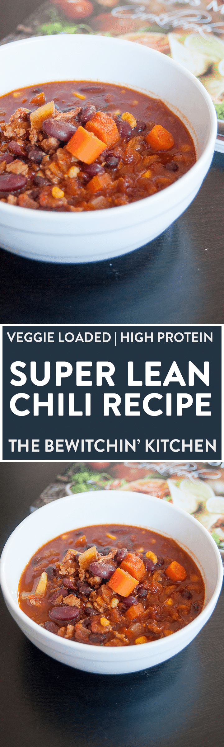 BEST CHILI EVER - Super lean and healthy chili recipe from Teena's Fitness. Ground chicken or ground turkey works well with this healthy recipe.
