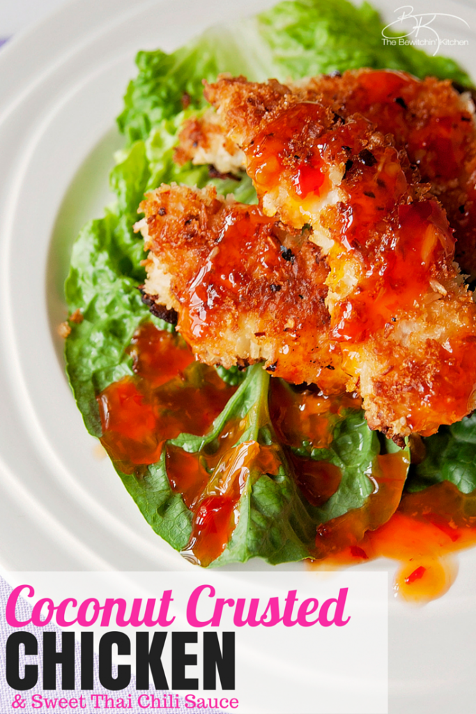 Coconut Crusted Chicken with Thai Chili Sauce