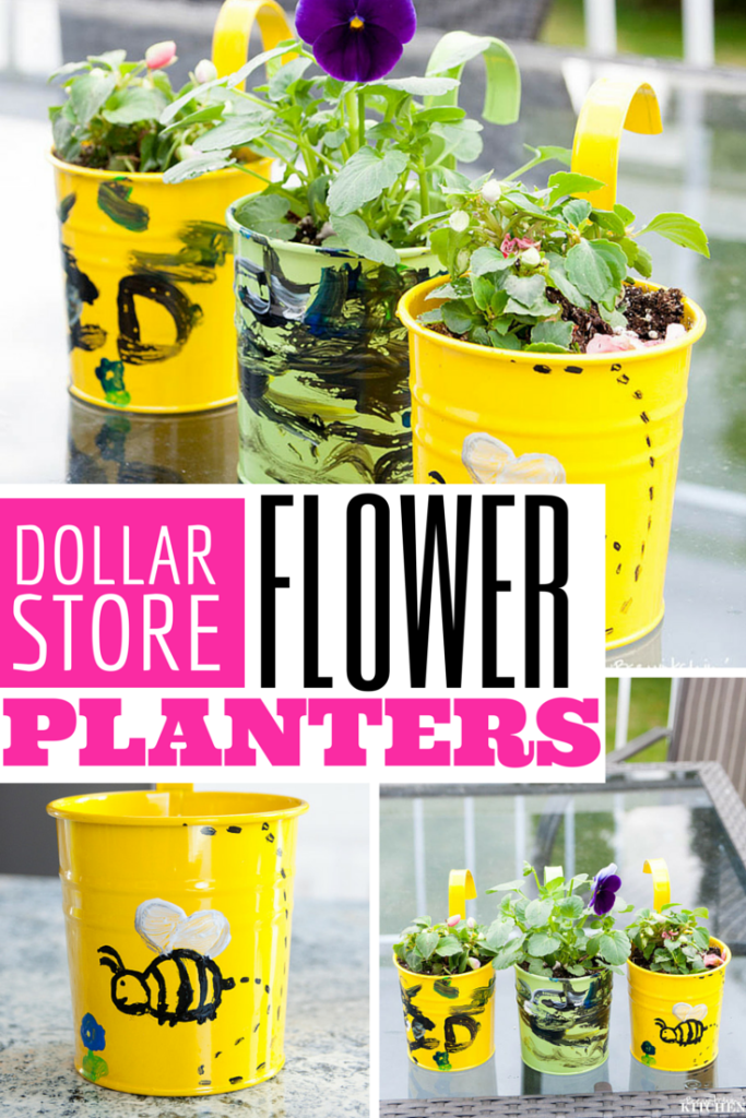 Looking for a fun craft to do with your toddler? Why not make some flower planters with this dollar store craft from The Bewitchin' Kitchen.