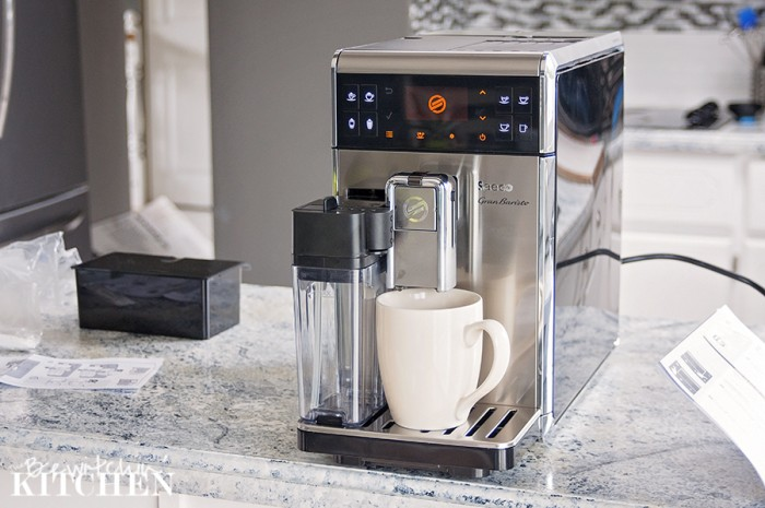 The Saeco GranBaristo is a coffee game changer. It makes everything from regular coffee, latte, cappuccino, etc. From bean to cup with the press of one button. | The Bewitchin' Kitchen