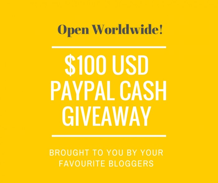 Win $100 PayPal Cash #giveaway