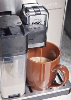 Philips Saeco GranBaristo is the only coffee machine you would need! From american coffee to latte macchiato.