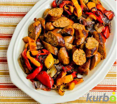 Healthy Kids Dinner: Classic Sausage with peppers and onions. It is quick, affordable, and nutritious!